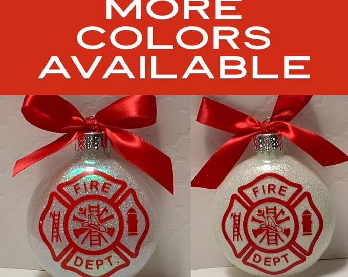 Fireman, Firefighter, first responder, 1st responder, christmas ornament, Glass ornament