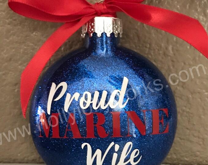 Marine ornament, Marine Ornament, Marine Wife, Marine Mom