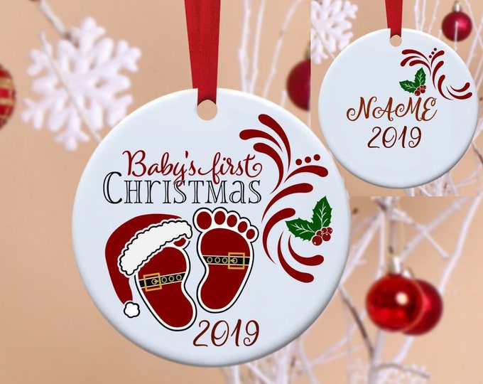 Baby's First Christmas, Baby's 1st Christmas, 1st Christmas, First Christmas, Christmas Ornament, Personalized Ornament, Babie's