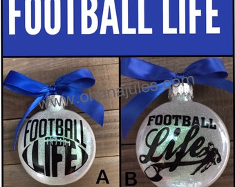 Football, football ornament , sports ornaments, glass ornament, Christmas ornaments
