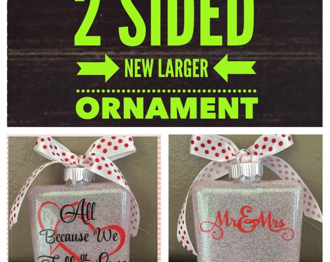 Glass Ornament, wedding Ornament, personlized Ornament