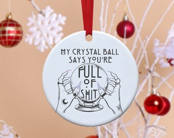 Funny Ornament, Christmas Ornaments, Christmas, Santa, Bff, rude ornaments,