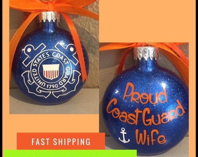 Coast Guard ornament,  Coastie, Coast Guard, coast guard ornament,Personalized Ornament