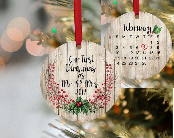 First Christmas. Mr & Mrs, Christmas, Christmas Ornament, Ornament, 1st Christmas