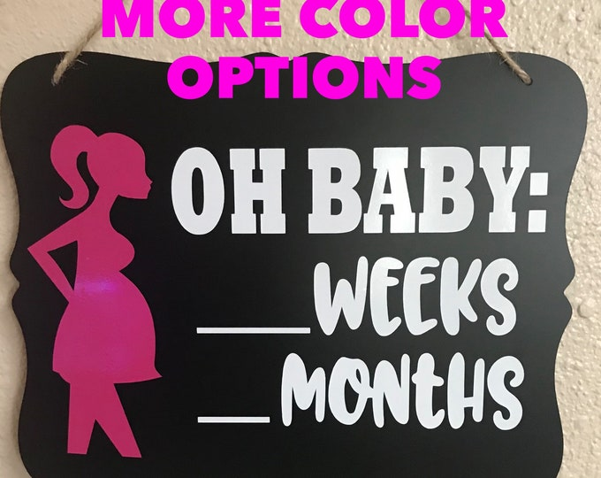Pregnancy count down sign, baby count down, pregnancy, Baby, Baby due date, Baby shower