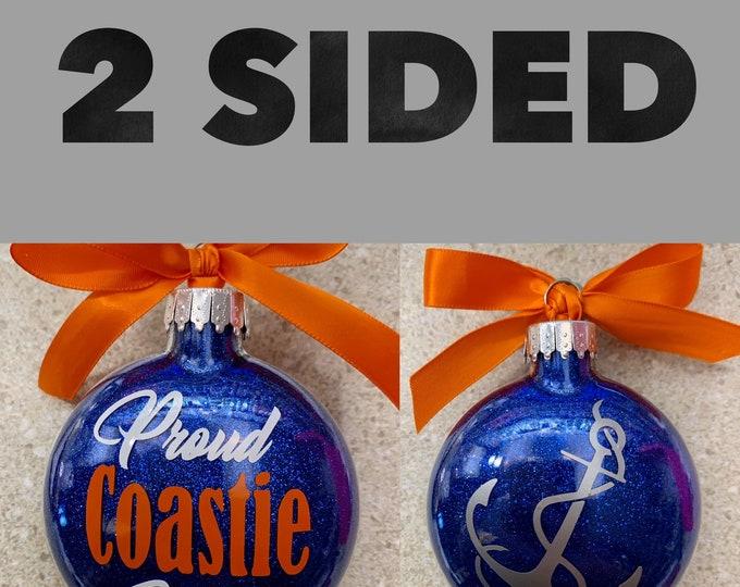 Coast Guard, Glass ornament, Christmas Ornament, Coast Guard  Wife, Coast Guard Mom, Coast Guard
