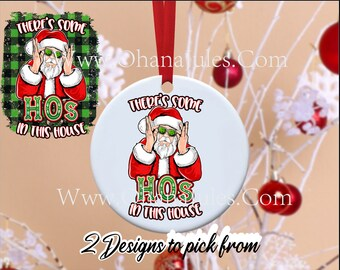 Funny Ornament, Christmas Ornaments, Christmas, Santa, Bff, rude ornaments