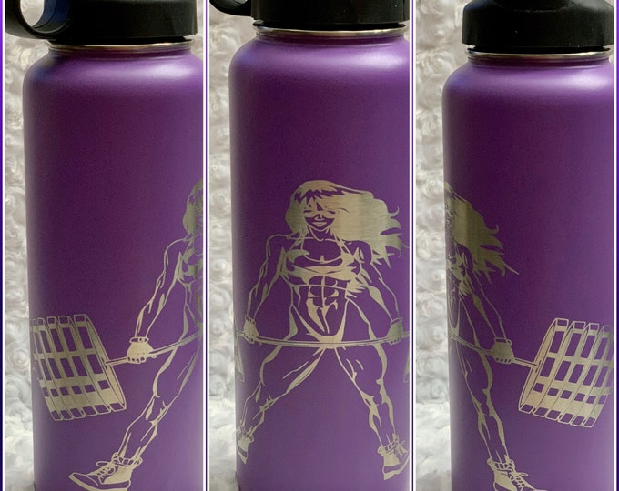 Gym, weightlifting, muscles, tumbler, flask, water, stainless tumbler