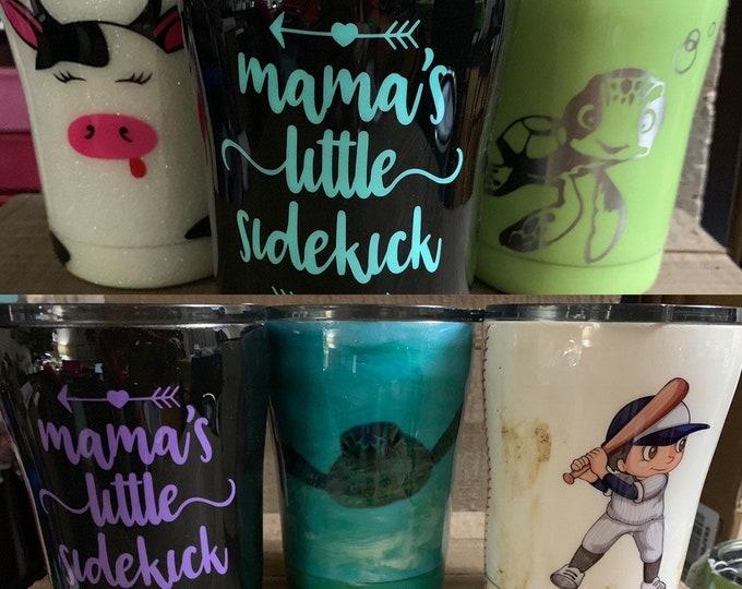 Stainless tumblr, stainless cup, kids tumbler, dinosaur cup, pineapple tumbler,glitter tumbler