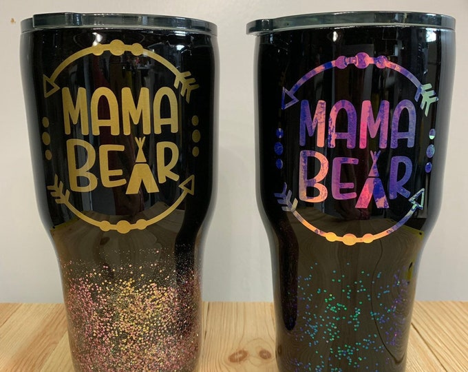 Mama bear tumbler, tumbler, flask, water bottle, cup, mama, mom, Mother's Day