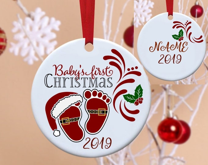 Baby's First Christmas, Baby's 1st Christmas, 1st Christmas, First Christmas, Christmas Ornament, Personalized Ornament