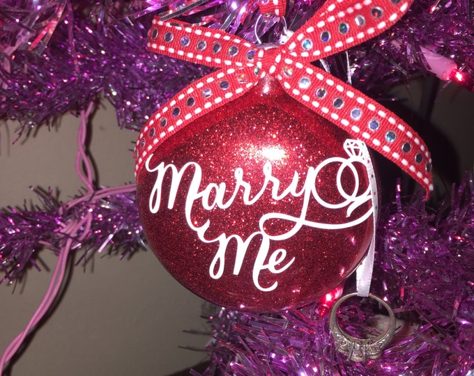 Marry me Ornament , Wedding proposal Ornament, Christmas Proposal