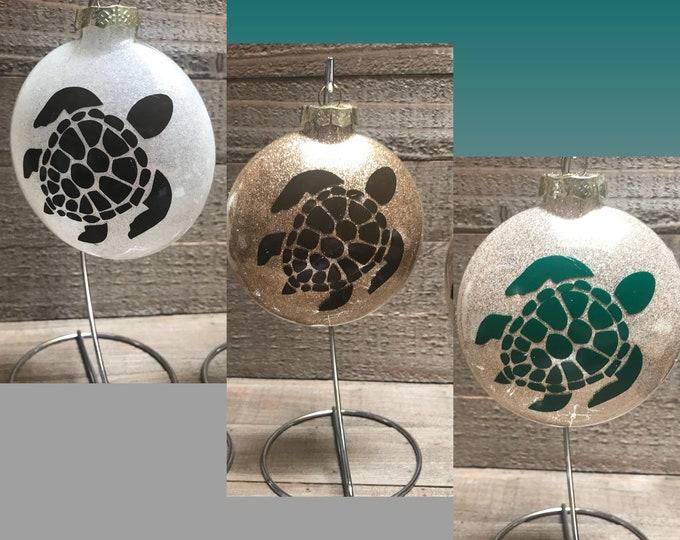 Honu, Turtle Ornament, Hawaiian Ornament, Glass ornament, Ornament, Personalized ornament, Hawaiian gifts