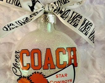 Cheer Coach, Coach, Cheer Ornament, Coach Ornament, Sports, cheerleader