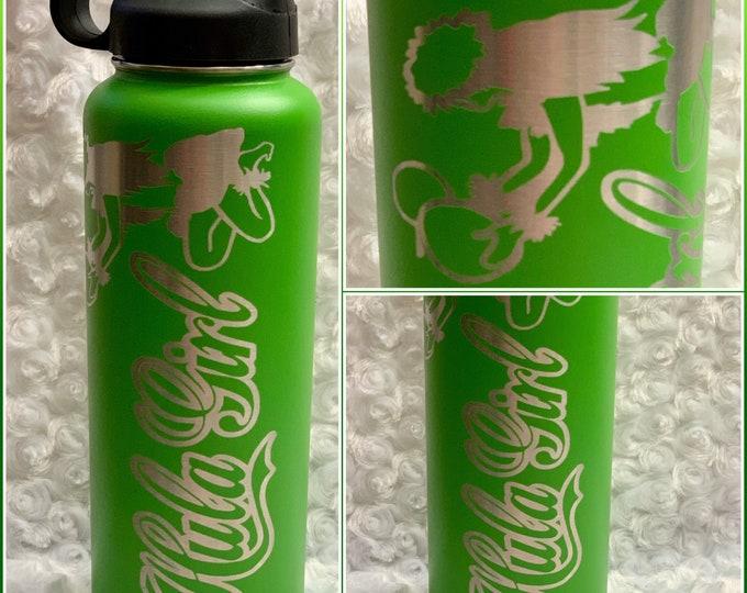 Hula dancer, Hula Girl, Aloha, Hawaiian,Hawaii, flask, water bottle, tumbler, stainless, tropical