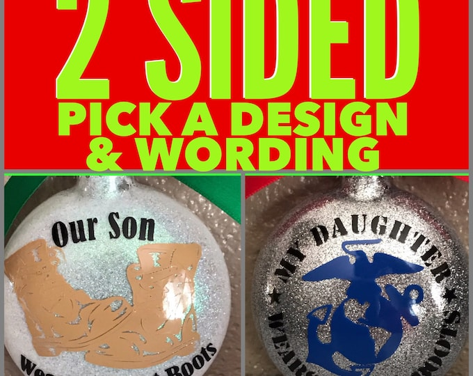 Army Ornament, Army glass Ornament, Army, Army Mom, Army Wife, Personlize