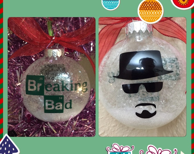 Breaking bad ornament ( 2 sided ), ornament  ( glow in the dark  )
