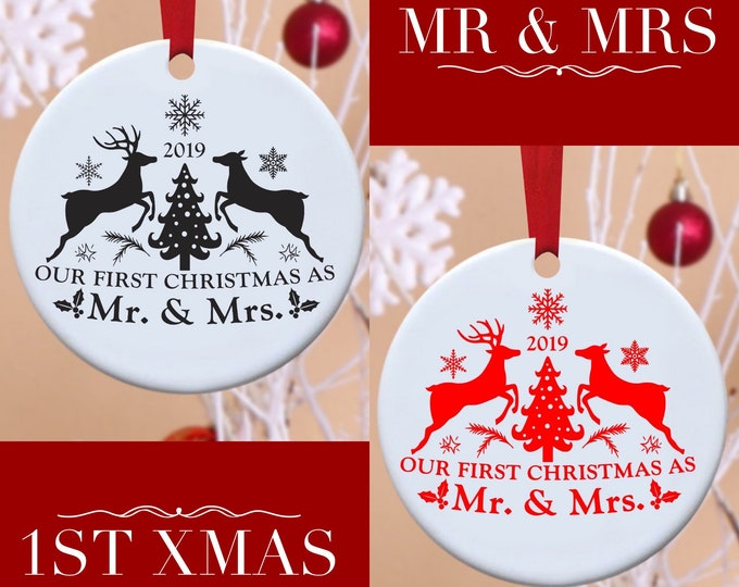 Mr&Mrs, First Christmas, 1st Christmas, Christmas, Ornament,