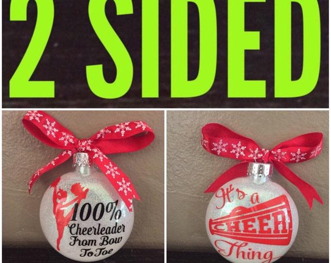 Cheer ornament, cheerleader Ornament, cheerleading ornament, Cheer mom, personalized ornament