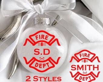 Fireman, Firefighter, First responder, 1st responder, Hero, Glass ornament, Fireman wife, Fireman Girlfriend