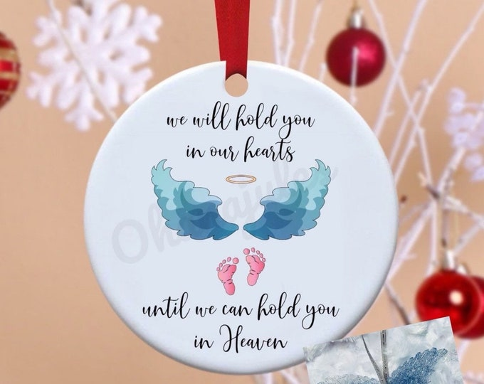 Ornament, Remembrance, Loss, In Memory, Baby loss memorial, infant loss, Angel wings,Baby remembrance, pregnancy loss, Babie's