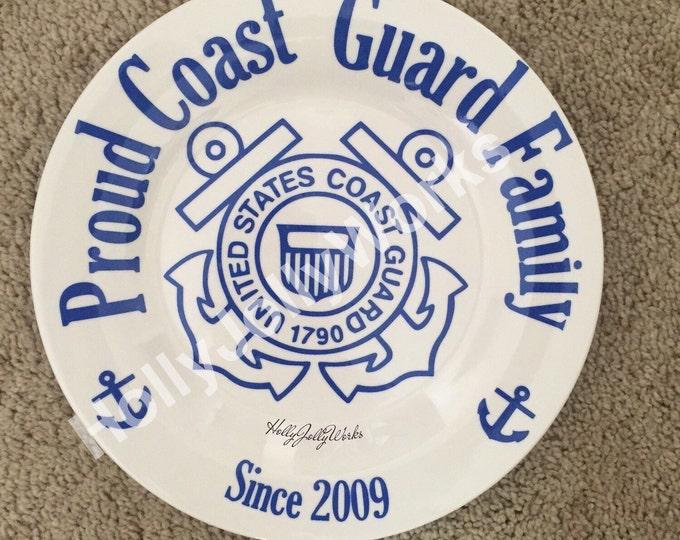 Coast Guard plate, CG Plate, Coast Guard Wife, Coast Guard Mom