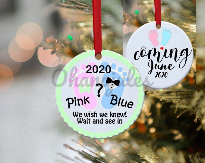 Pregnancy Annoncement, Pregnancy, Annoncement, Baby Annoncement, Baby, Baby Girl,Baby Boy, Ornament, Personalized, Expecting