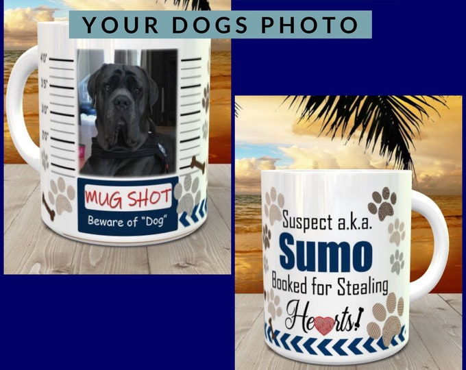Pet mug, dog mug, coffee mug, mastiff, coffee, tea, personalized