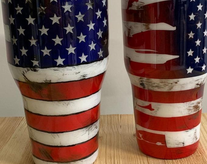 American flag tumbler, rustin flag, flag tumbler, american flag
