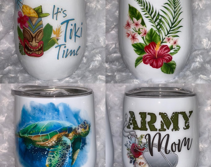 Turtle, Honu, Army mom, Army, wine Glass, wine glass, Stainless wine,