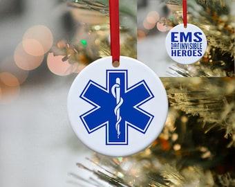 EMS, Paramedic, Nurse, EMT, Hero, Police, Firefighter, Ornament, Christmas, Christmas Ornament