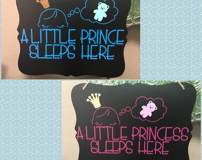 Baby sleeping door hanger, Baby shower, Door hanger, Baby Girl, Baby Boy,
