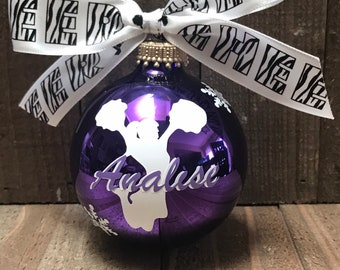 Cheer Ornament, Cheerleading, Cheer, Personalized, Christmas Ornament, Glass Ornament, Cheer
