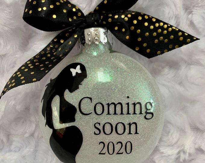 Pregnancy announcement, baby announcement, pregnancy ornament, expecting baby announcement, We're pregnant