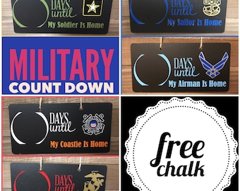 Deployment Count down sign, Military Deployment, Military, Deployment Strong, Count down, Chalkboard