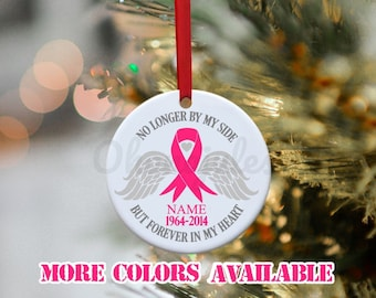 Cancer, Breast Cancer, Brain Cancer, Ovarian cancer, Childhood Cancer, Memorial  Ornament, Remembrance Ornament, Breast Cancer Awareness