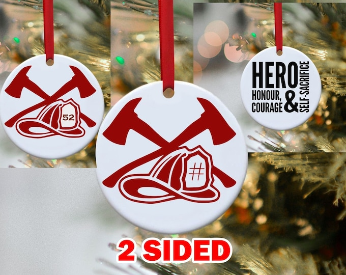 Firefighter Ornament, Fireman, Christmas Ornament, Ornament,