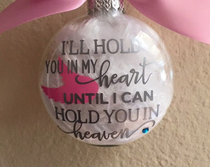 Glass ornament , Remembrance, Angel ornament, Personalized Ornament
