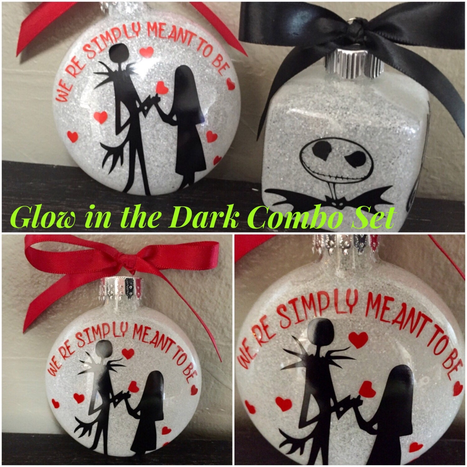 Nightmare before Christmas , Jack and sally Ornament, Nightmare ...