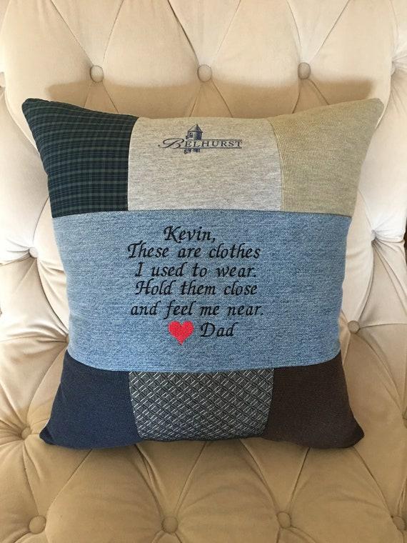 Quilt Pillow Memory Pillow From Loved Ones Shirt Memorial