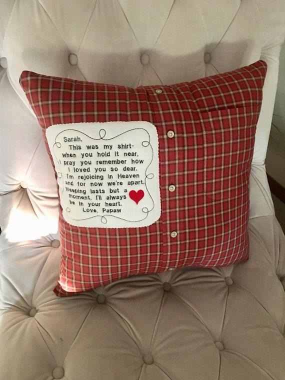 Memory Shirt Pillow Keepsake Pillow In