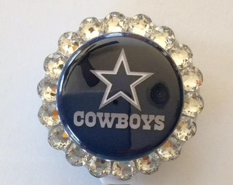 46b5c0474998 Dallas Cowboys Decorative Badge ID Holder with Charms Beads