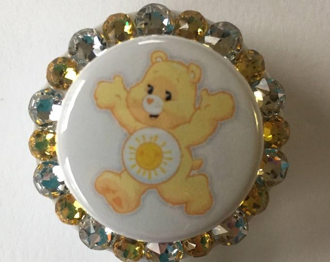 Funshine Carebear BadgeID Holder with CharmsBeads