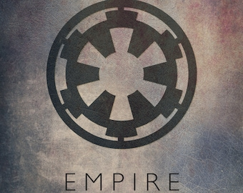 Star Wars Galactic Empire Imperial Emblem Fan Art Digital Print