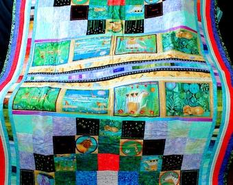 Safari/Jungle-themed Quilt for Girl