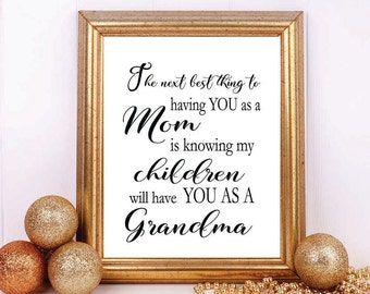 Gift for Grandma Next Best Thing Grandmother Gift Gift for | Etsy