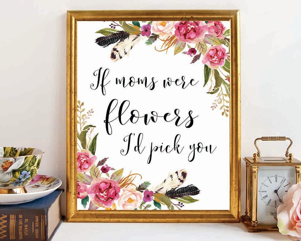 Mom Gift Mothers Day Gift Mothers Day Print Gift for Mom | Etsy