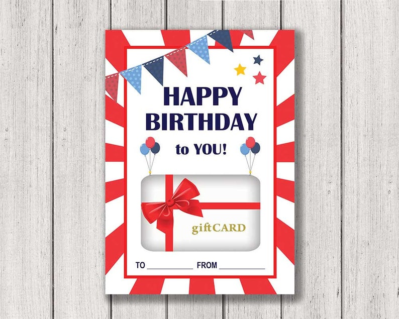 Birthday Gift Card Holder Printable Happy