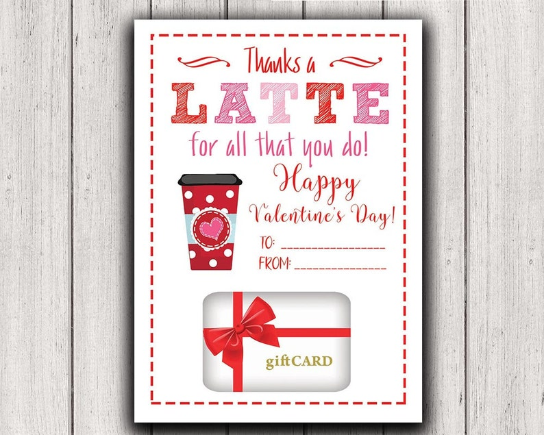 PRINTABLE Gift Card Holder Valentine Gift Card Holder Thanks image 0