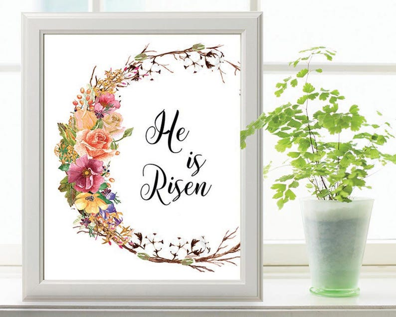 picture relating to He is Risen Printable known as EASTER PRINTABLE Wall Artwork, He Is Risen printable quotation, printable wall artwork, commitment prices, Easter printable, wall artwork, printablestyles